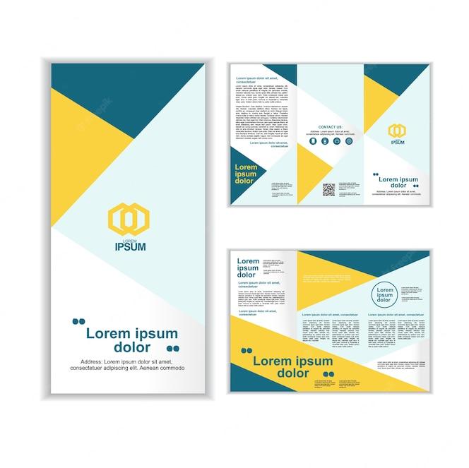Plantilla de folleto tres negocios profesionales