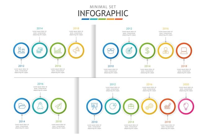 Plantilla de infografía para negocios