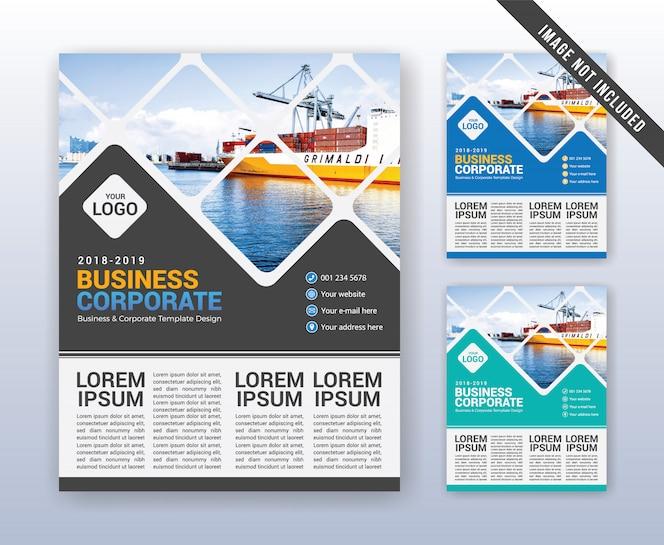 Plantilla de informe anual de negocio moderno