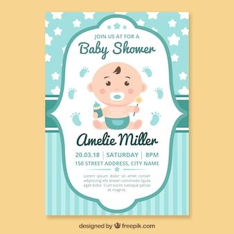 Plantilla de invitación a baby shower