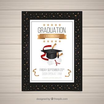 Plantilla de invitación de graduación