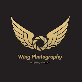 Plantilla de logo de alas
