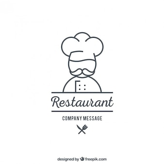 Plantilla de logo de restaurante