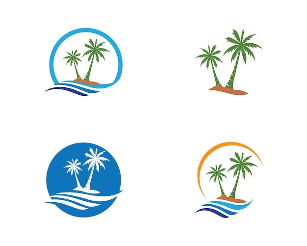 Plantilla de logotipo de árbol de palma