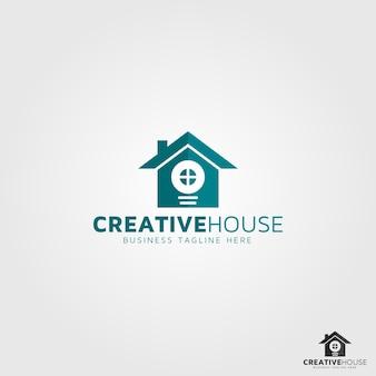 Plantilla de logotipo de casa creativa
