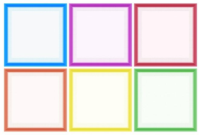 Plantilla de marco con bordes coloridos