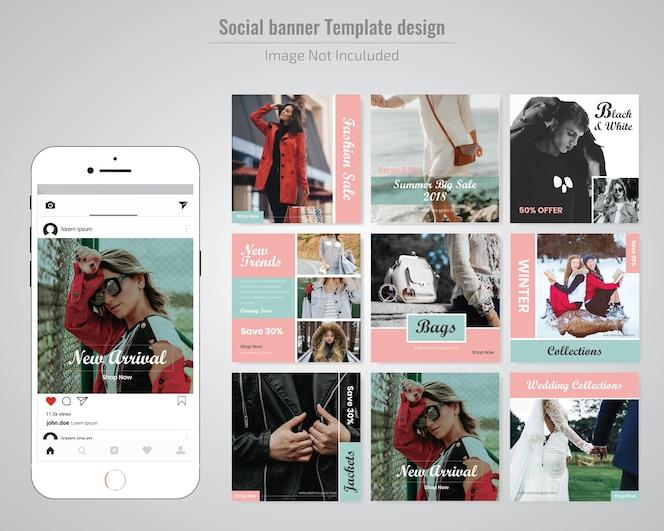 Plantilla de mensaje de red social social media