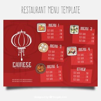 Plantilla de menú de restaurante chino