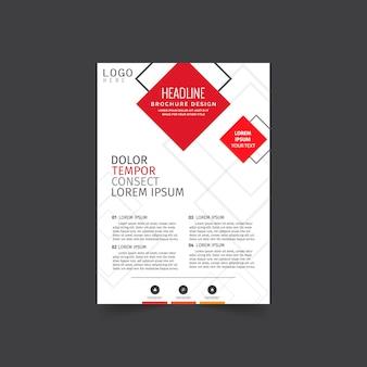 Plantilla de negocio moderno folleto