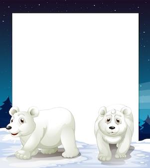 Plantilla de oso polar