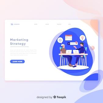 Plantilla de página de aterrizaje de estrategia de marketing