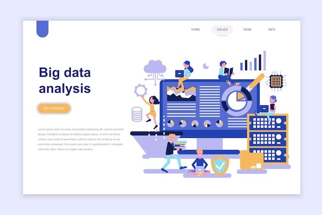 Plantilla de página de destino del análisis de big data