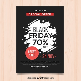 Plantilla de póster de black friday