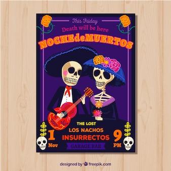 Plantilla de póster del día de muertos
