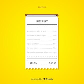 Plantilla de recibo de pago con diseño plano