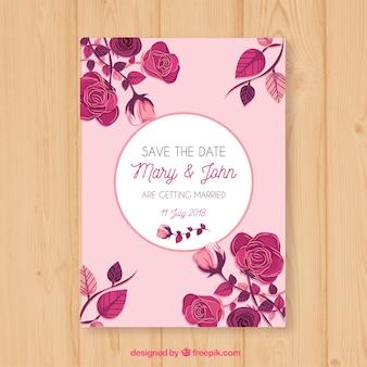 Plantilla de tarjeta de boda