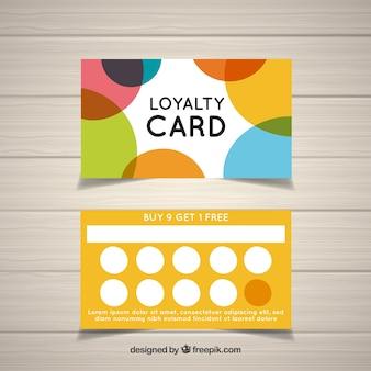 Plantilla de tarjeta de cliente colorida