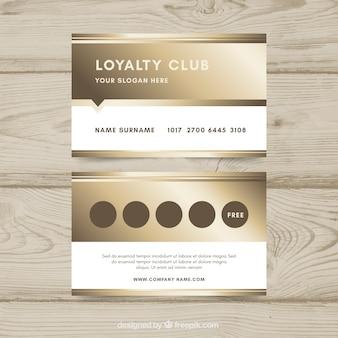 Plantilla de tarjeta de cliente de lujo con estilo dorado