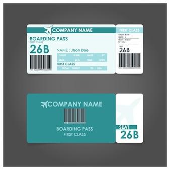 Plantilla de tarjeta de embarque