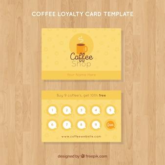 Plantilla de tarjeta de fidelidad de café