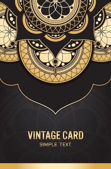 Plantilla de tarjeta de oro con fondo abstracto