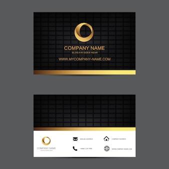 Plantilla de tarjeta de visita de fondo geométrico. diseño plano.
