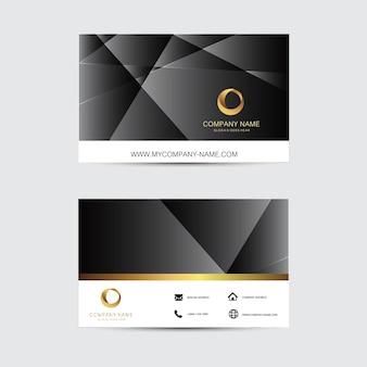Plantilla de tarjeta de visita de fondo geométrico