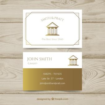 Plantilla de tarjeta de visita de ley y justicia