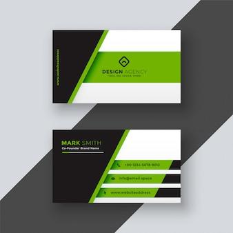 Plantilla de tarjeta de visita verde profesional