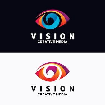 Plantilla de vector de diseño de ojo logo