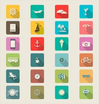Plantilla de viaje para interfaz o infografía