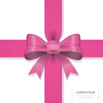 Plantilla de decoración de regalo elegante