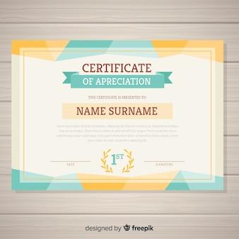 Plantilla decorativa de certificado