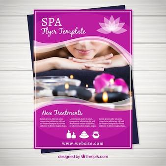 Plantilla del folleto de centro de spa