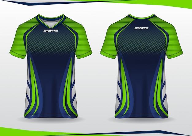 Plantilla de deporte de camiseta de jersey de fútbol