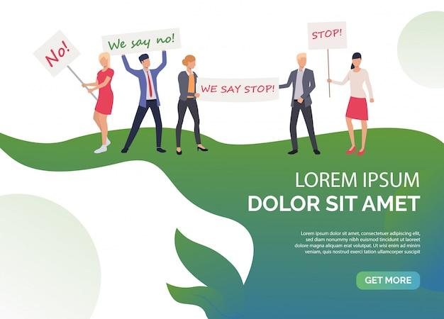 Plantilla de derechos de diapositiva feminismo verde