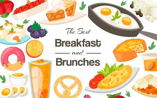 Plantilla de desayuno y almuerzo