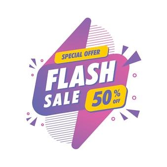 Plantilla de descuento de venta flash