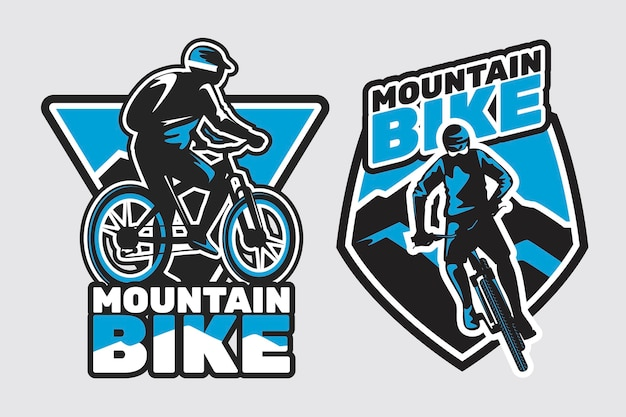 Plantilla detallada de logotipo de bicicleta ciclista