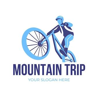 Plantilla detallada de logotipo de bicicleta