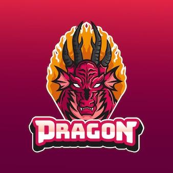 Plantilla detallada de logotipo de juegos de deportes electrónicos