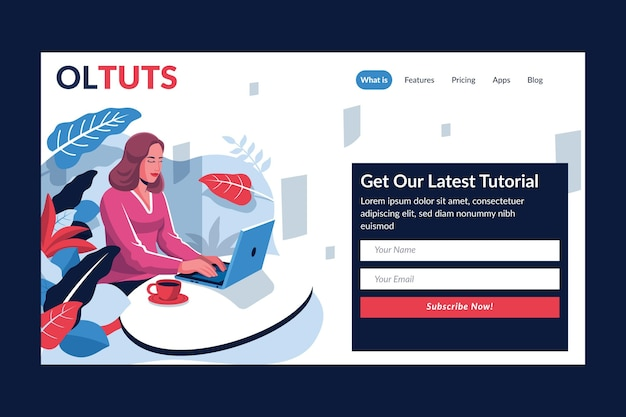 Plantilla detallada de página de destino de aprendizaje en línea