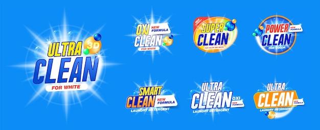 Plantilla de detergente para ropa