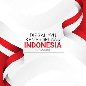 Plantilla del día de la independencia de indonesia.