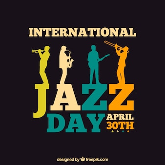 Plantilla del día internacional del jazz