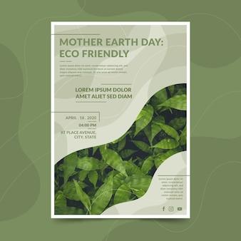 Plantilla del día de la madre tierra
