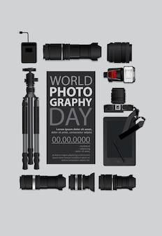 Plantilla del día mundial de la fotografía