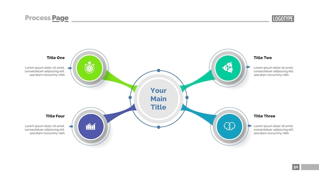 Plantilla de diagrama de cuatro opciones