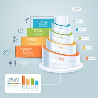 Plantilla de diagrama de escalera de negocios.