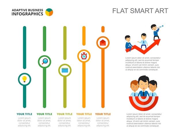Plantilla de diapositiva del concepto de crecimiento financiero